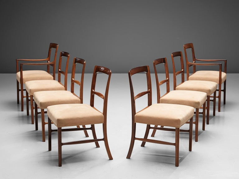 Ole Wanscher for AJ Iversen Set of Eight 'Forum' Chairs 1