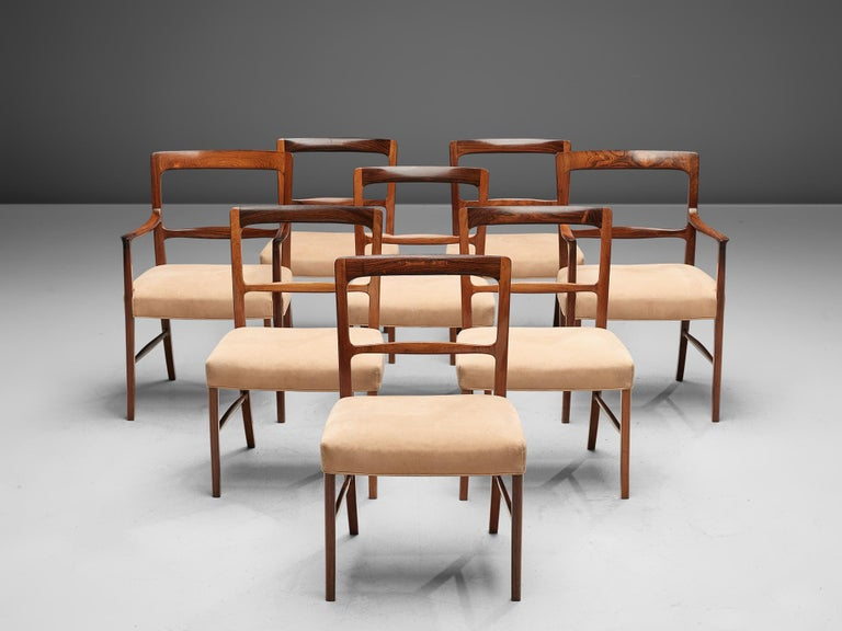 Ole Wanscher for AJ Iversen Set of Eight 'Forum' Chairs 2