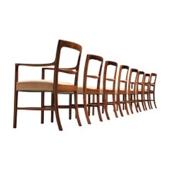 Ole Wanscher for AJ Iversen Set of Eight 'Forum' Chairs