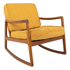 Ole Wanscher for France and Son Midcentury Teak Rocking Chair