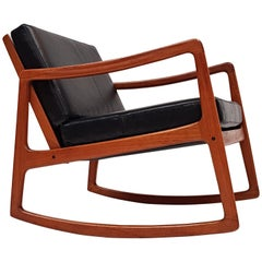 Ole Wanscher for France & Son Model 120 Teak Rocking Chair for France & Son