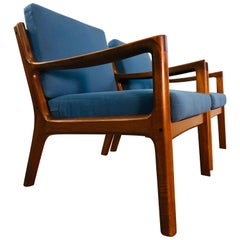 Ole Wanscher for France & Sons Denmark Senator Easy Chairs, Pair