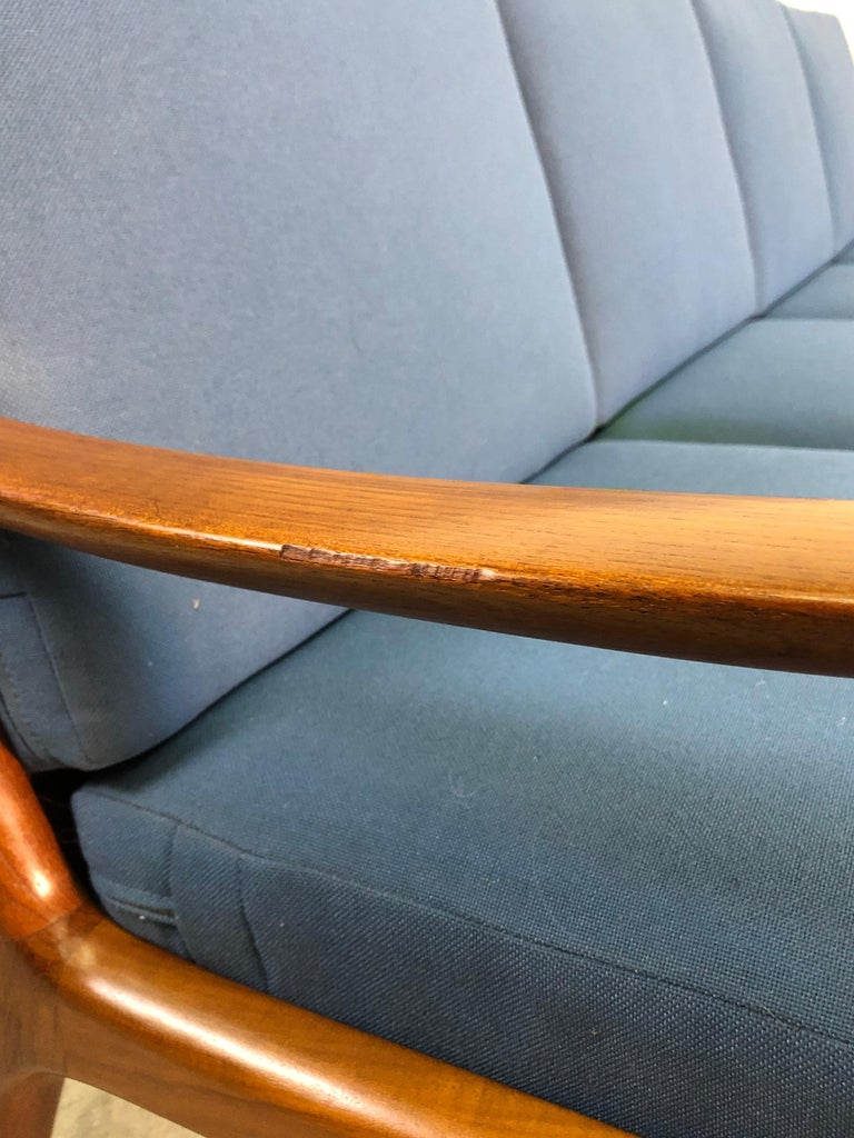 Ole Wanscher for France & Sons Denmark Teak 4-Seat Sofa For Sale 4