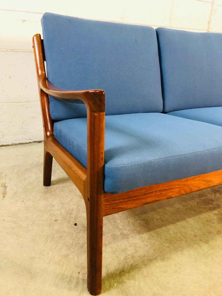 Danish Ole Wanscher for France & Sons Denmark Teak 4-Seat Sofa For Sale