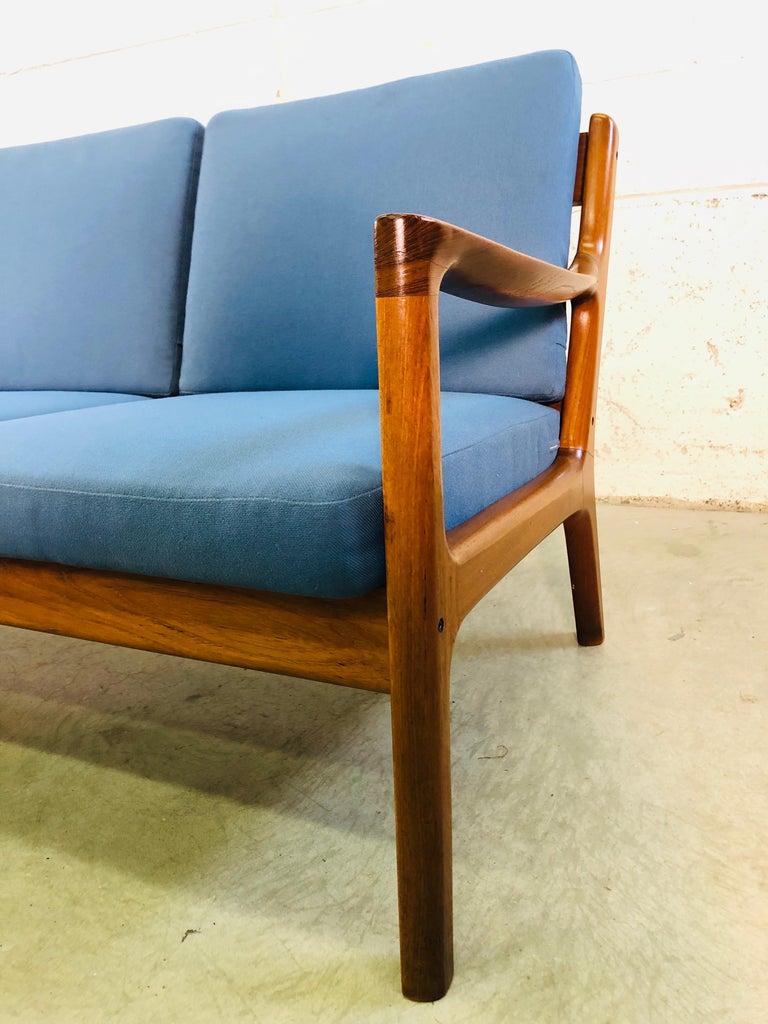 20th Century Ole Wanscher for France & Sons Denmark Teak 4-Seat Sofa For Sale