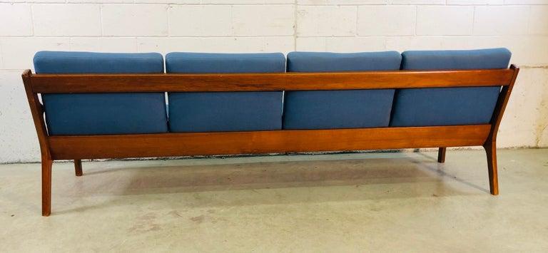Ole Wanscher for France & Sons Denmark Teak 4-Seat Sofa For Sale 1