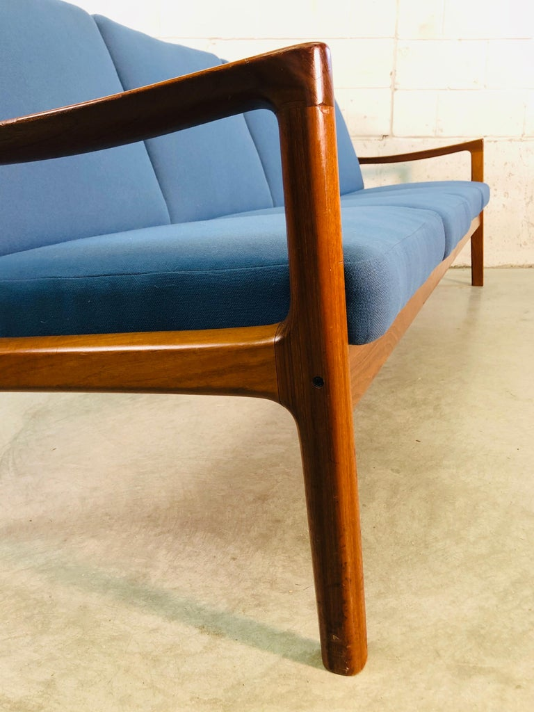 Ole Wanscher for France & Sons Denmark Teak 4-Seat Sofa For Sale 2