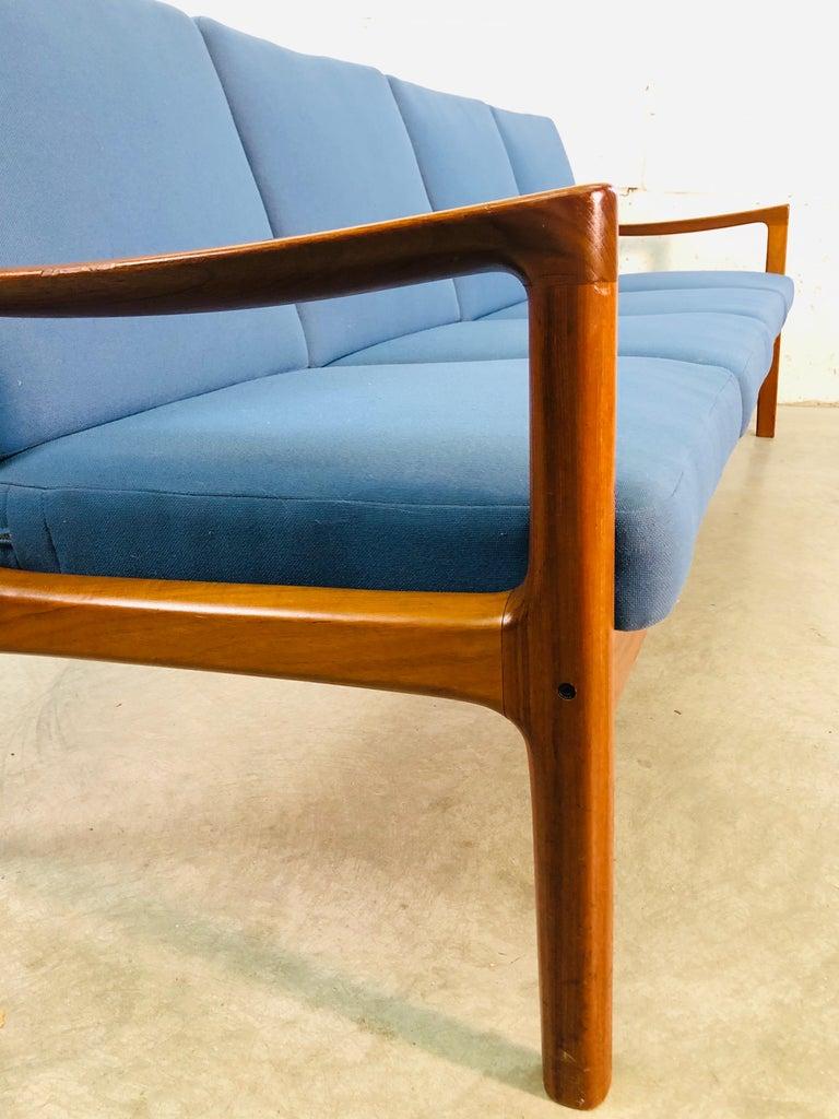 Ole Wanscher for France & Sons Denmark Teak 4-Seat Sofa For Sale 3
