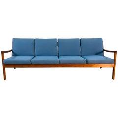Ole Wanscher for France & Sons Denmark Teak 4-Seat Sofa