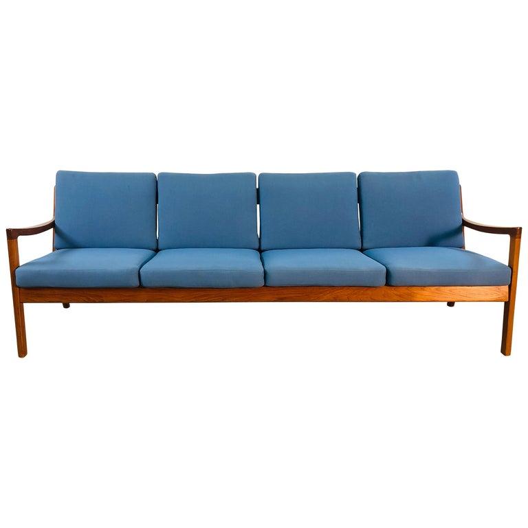 Ole Wanscher for France & Sons Denmark Teak 4-Seat Sofa For Sale