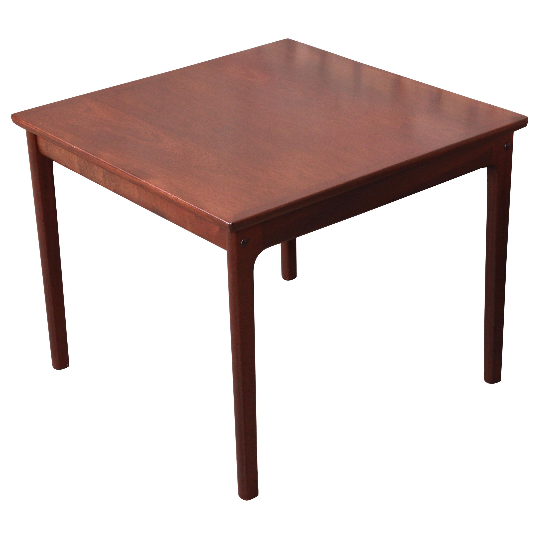 Ole Wanscher for Poul Jeppesen Danish Modern Teak Side Table, Newly Refinished