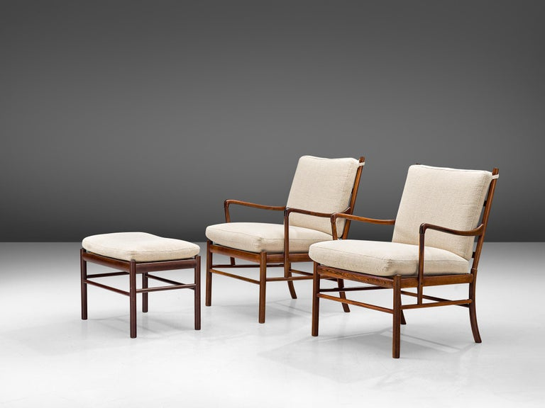 Ole Wanscher for Poul Jeppesen Pair of 'Colonial' Armchairs 4