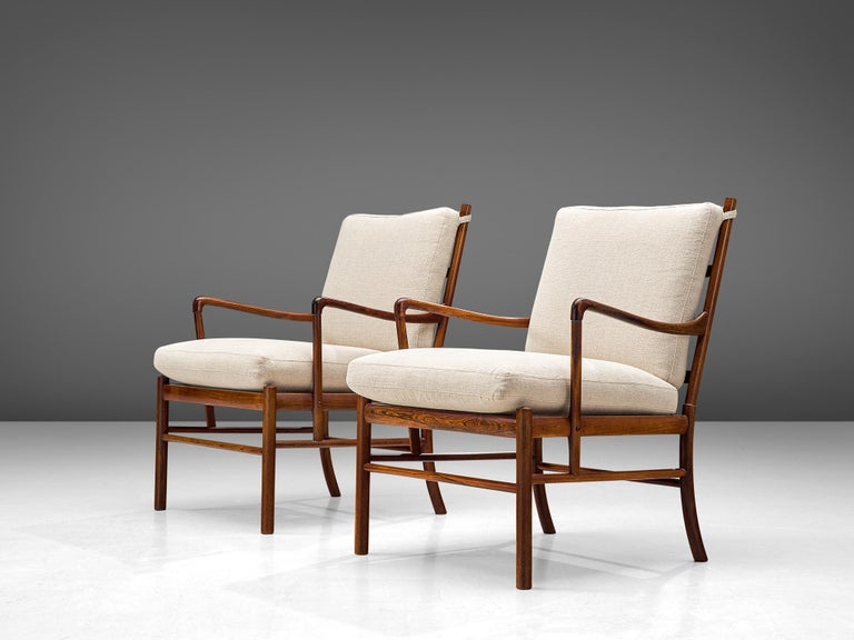 Danish Ole Wanscher for Poul Jeppesen Pair of 'Colonial' Armchairs