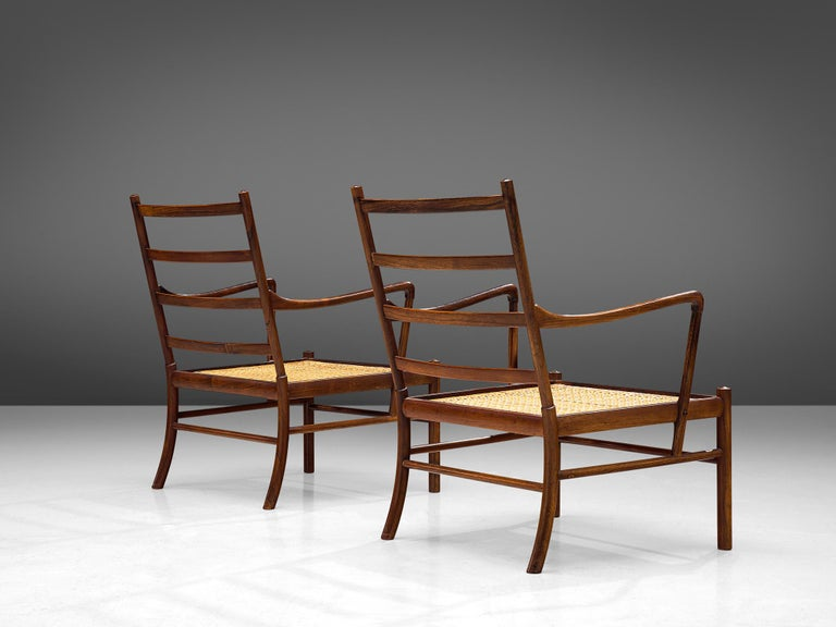 Mid-20th Century Ole Wanscher for Poul Jeppesen Pair of 'Colonial' Armchairs