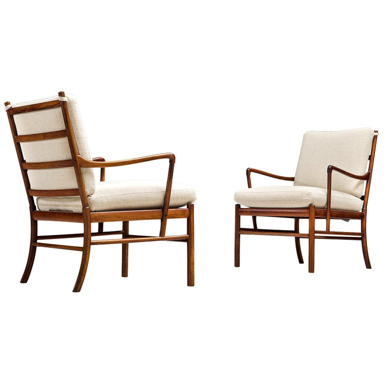 Ole Wanscher for Poul Jeppesen Pair of 'Colonial' Armchairs