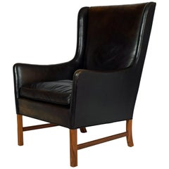 Ole Wanscher High-Back Armchair for A.J. Iversen, 1962