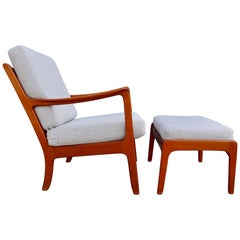 Ole Wanscher Lounge Chair and Ottoman for John Stuart