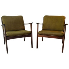 Ole Wanscher Lounge Chair, Model PJ112, Mahogany
