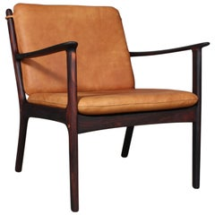 Ole Wanscher Lounge Chair, Model PJ112, Rosewood