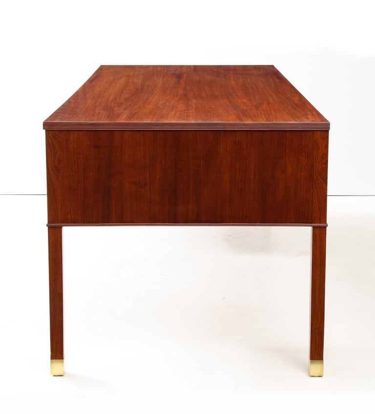 Ole Wanscher Mahogany Desk, circa 1950s, Produced by A. J. Iversens For Sale 4