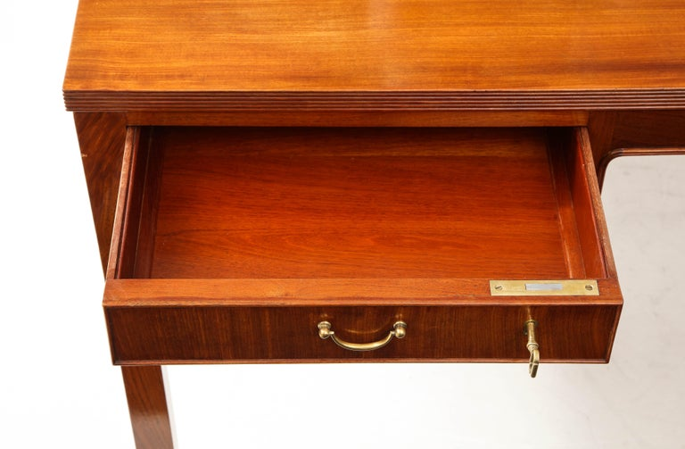 Ole Wanscher Mahogany Desk, circa 1950s, Produced by A. J. Iversens For Sale 8