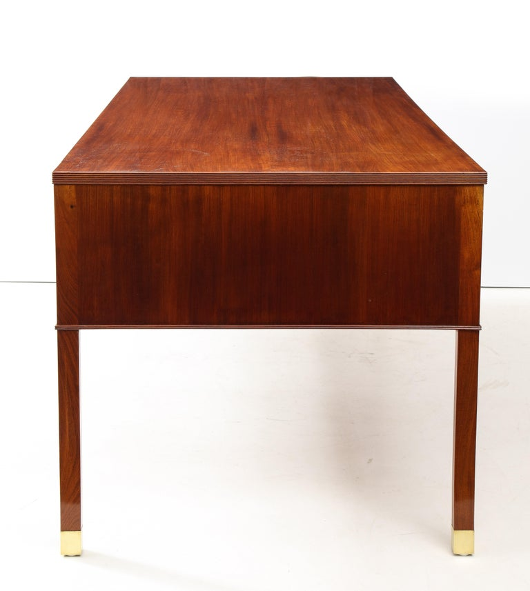 Mid-17th Century Ole Wanscher Mahogany Desk, circa 1950s, Produced by A. J. Iversens For Sale