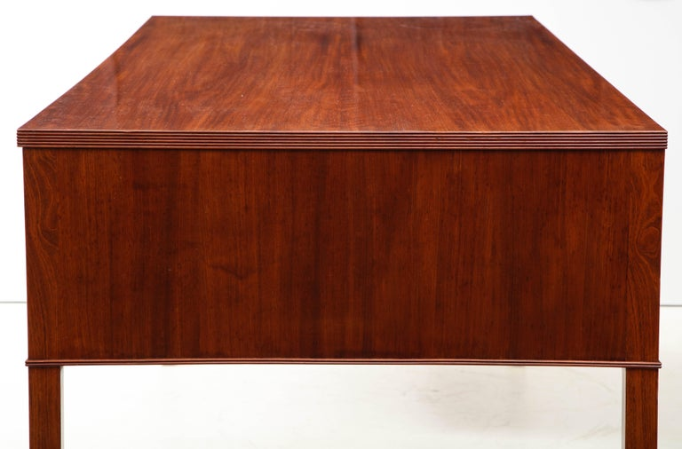 Ole Wanscher Mahogany Desk, circa 1950s, Produced by A. J. Iversens For Sale 1