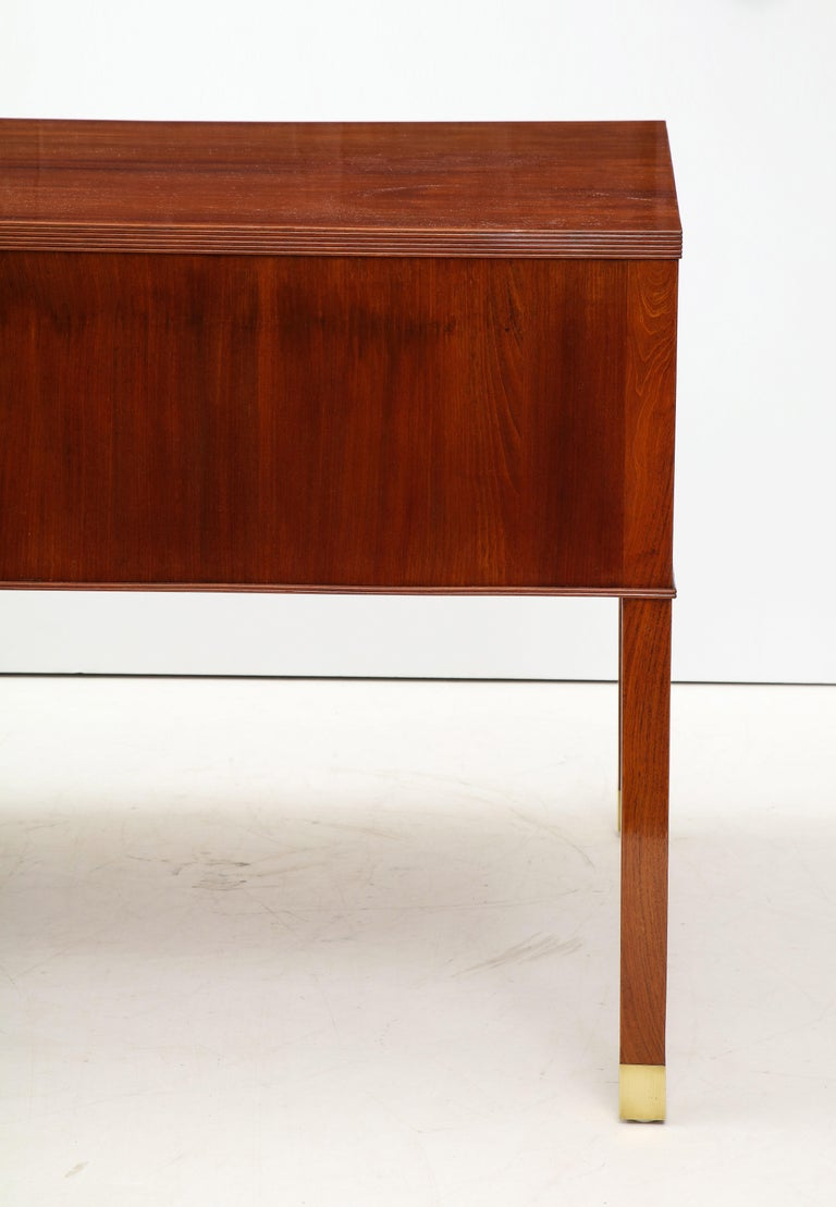 Ole Wanscher Mahogany Desk, circa 1950s, Produced by A. J. Iversens For Sale 2