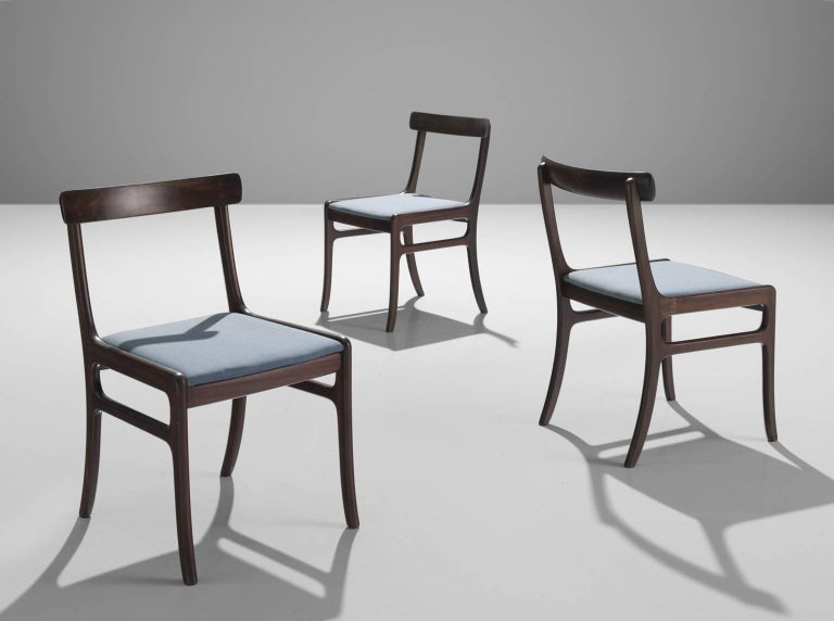 Danish Pair of Ole Wanscher Mahogany 'Rungstedlund' Dining Chairs For Sale