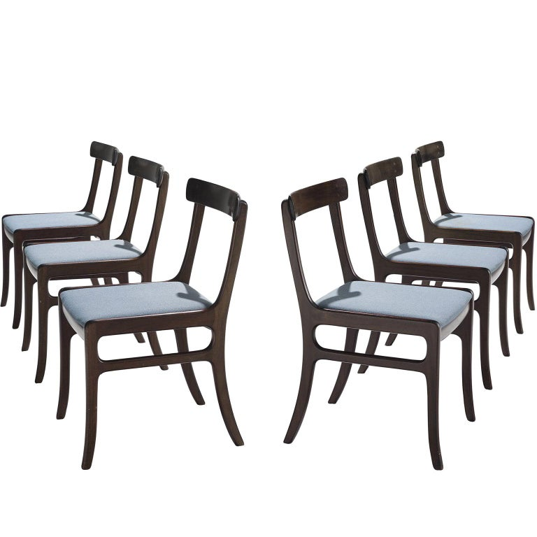 Pair of Ole Wanscher Mahogany 'Rungstedlund' Dining Chairs For Sale