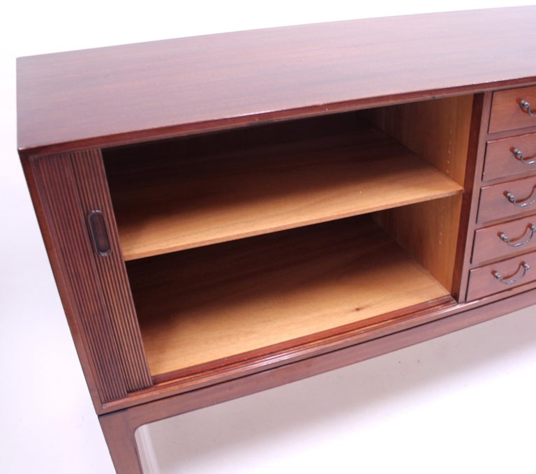Ole Wanscher Mahogany Sideboard, A.J. Iversen, 1940s For Sale 3