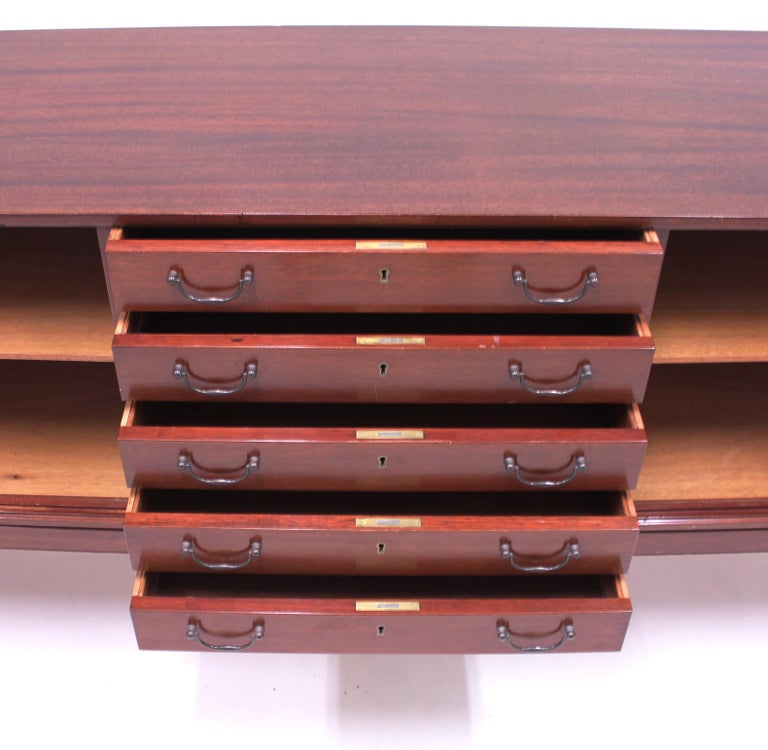 Ole Wanscher Mahogany Sideboard, A.J. Iversen, 1940s For Sale 5
