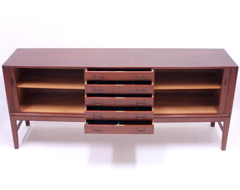 Ole Wanscher Mahogany Sideboard, A.J. Iversen, 1940s For Sale 6