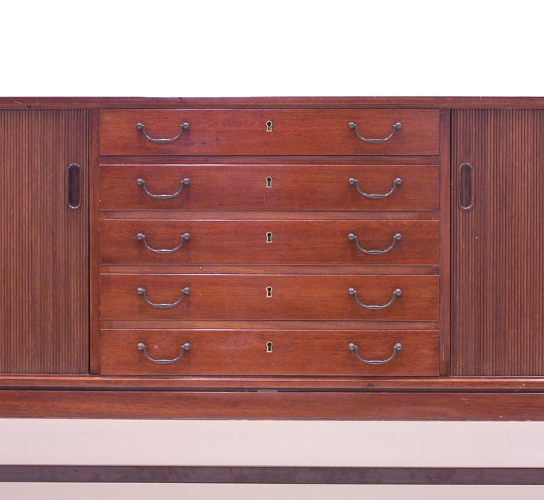 Ole Wanscher Mahogany Sideboard, A.J. Iversen, 1940s For Sale 11