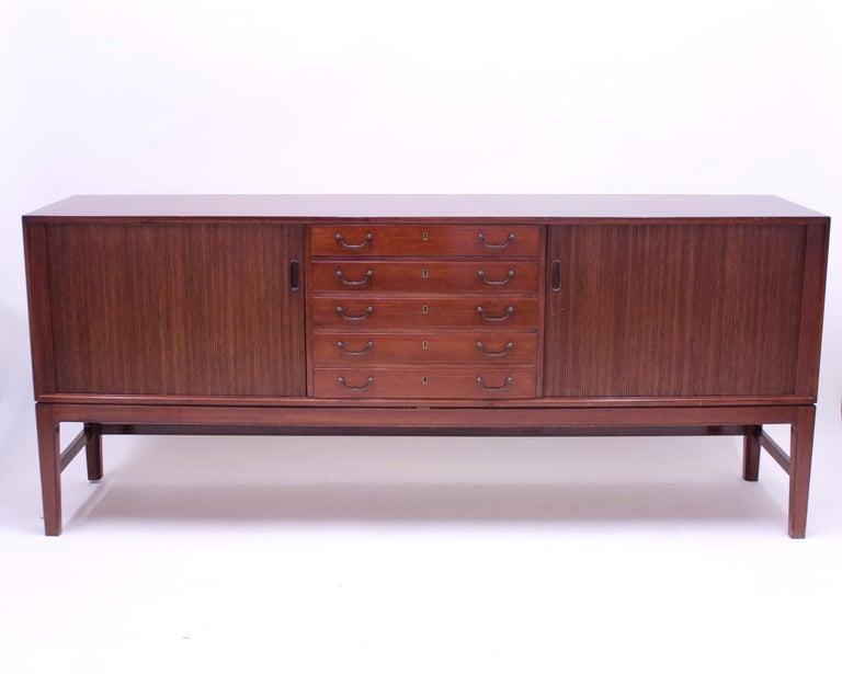 Danish Ole Wanscher Mahogany Sideboard, A.J. Iversen, 1940s For Sale