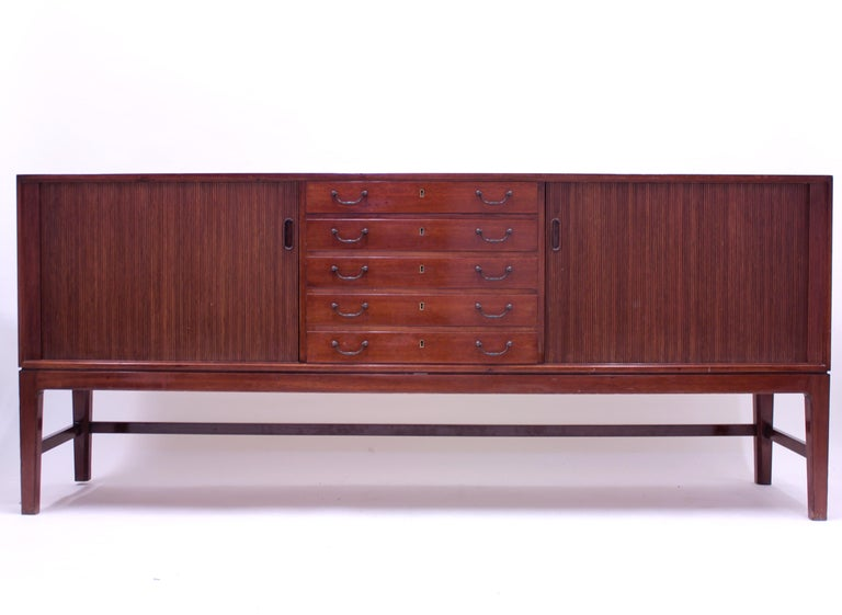 Ole Wanscher Mahogany Sideboard, A.J. Iversen, 1940s In Good Condition For Sale In Uppsala, SE