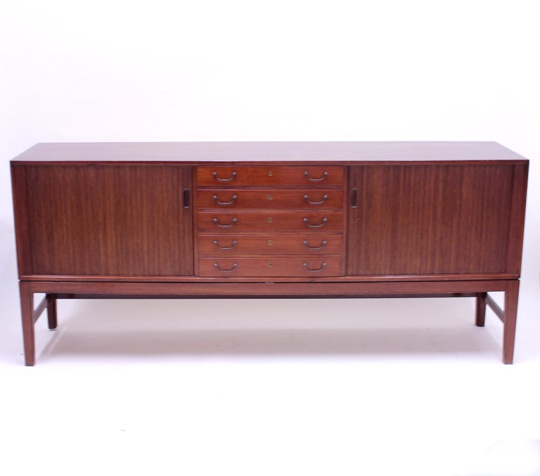 20th Century Ole Wanscher Mahogany Sideboard, A.J. Iversen, 1940s For Sale