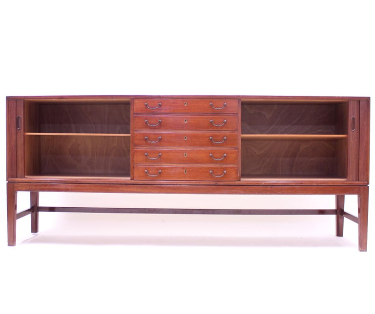Ole Wanscher Mahogany Sideboard, A.J. Iversen, 1940s For Sale 1