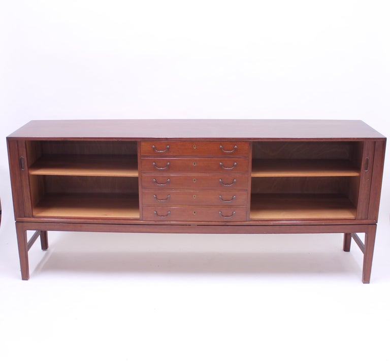 Ole Wanscher Mahogany Sideboard, A.J. Iversen, 1940s For Sale 2