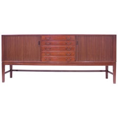 Ole Wanscher Mahogany Sideboard, A.J. Iversen, 1940s