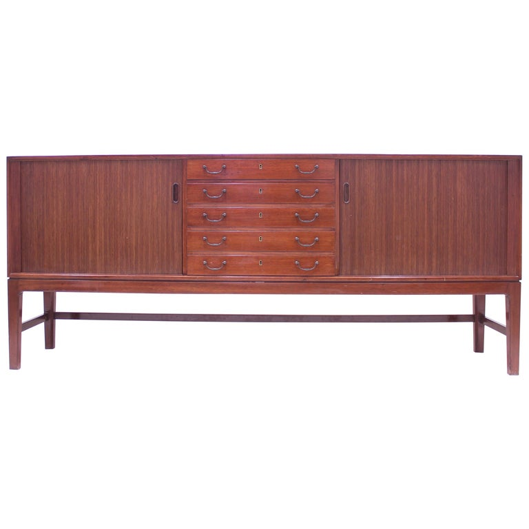 Ole Wanscher Mahogany Sideboard, A.J. Iversen, 1940s For Sale