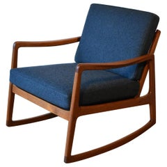 Ole Wanscher Model 120 Teak Rocking Chair for France & Son, Denmark