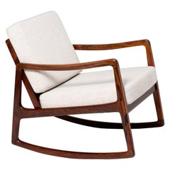 Ole Wanscher Model FD-120 Rosewood Rocking Chair, circa 1960