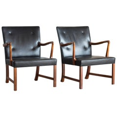 Ole Wanscher Pair of Armchairs for A.J. Iversen