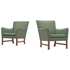 Ole Wanscher Pair of Lounge Chairs in Mahogany