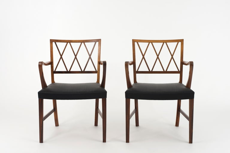 Danish Ole Wanscher Pair of Rosewood Armchairs for A. J. Iversen For Sale