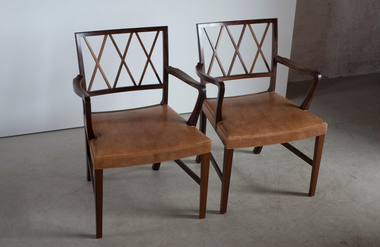 Ole Wanscher Pair of Rosewood Armchairs for A. J. Iversen In Good Condition For Sale In Copenhagen, DK