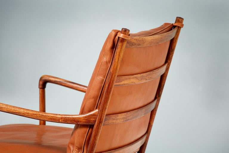 Ole Wanscher Pair of Rosewood Colonial Chairs, 1950s For Sale 3