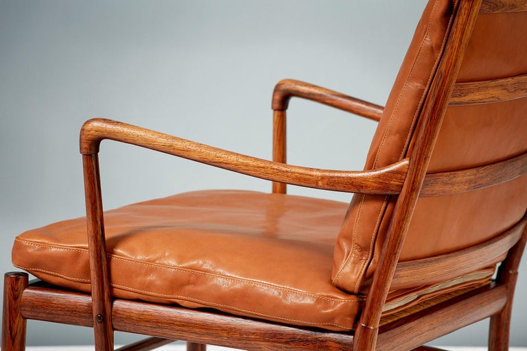 Ole Wanscher Pair of Rosewood Colonial Chairs, 1950s For Sale 4