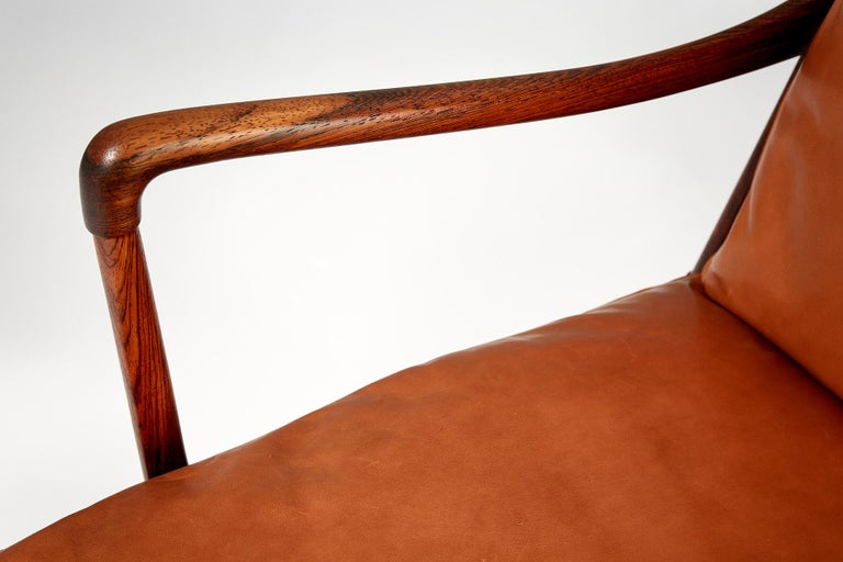 Ole Wanscher Pair of Rosewood Colonial Chairs, 1950s For Sale 5